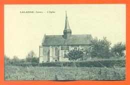 """CPA  89 Lalande  """" L'église """"  LJCP 18 - France"""