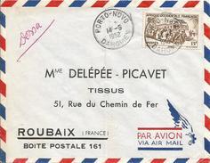 Dahomey Benin 1952 Porto Novo Train Loc Cover - Benin – Dahomey (1960-...)
