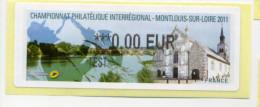 2011 LISA 2/ CHAMPIONNAT PHILATÉLIQUE INTER REGIONAL  DE MONTLOUIS SUR LOIRE - 2010-... Illustrated Franking Labels