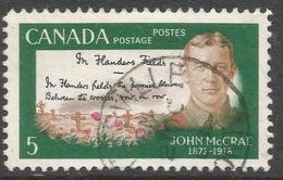 Canada. 1968 50th Death Anniv Of John McCrae. 5c Used. SG 628 - 1952-.... Reign Of Elizabeth II