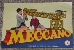 Ancien Manuel D´instruction MECCANO N°1, Nombreux Modèles, 1954 - Meccano