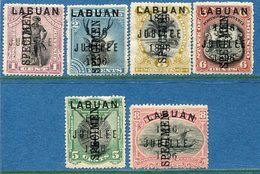 Colonie Anglaise Labuan Specimen Jublilé, N° 65/70 * - Grande-Bretagne (ex-colonies & Protectorats)