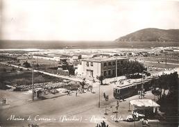 109/FG/16 - TRASPORTI: MARINA DI CARRARA - Pensione Tenda Rossa Con Tramwai Elettrico - Carrara