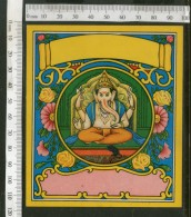 India Lord Ganesha Goddess Vintage Trade Textile Label Multi-colour # 16095 - Textile