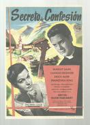 SECRETO DE CONFESION MARGIT SAAD CHARLES REGNIER ERICH AUER FRANZISKA KINZ  - Programa Cine FILM PROGRAM  AFFICHE CINÉMA - Affiches & Posters