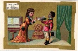 6 Cards Chocolat De La Cie Française Impr. Printer Mertens Butler Indians Pipe Bride Litho - Chocolat