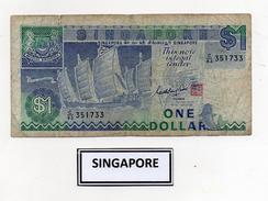 Singapore - Banconota Da 1 Dollaro -  Usata -  (FDC2395) - Singapore