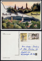 A5704 GERMANY -  CZECHOSLOVAKIA, Furth Im Wald & Domazlice Postcard Posted To Berlin - Czech Republic