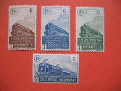 France Colis Postaux  1941 - 1945 Neuf **   N°  221 B  à 224 - Parcel Post