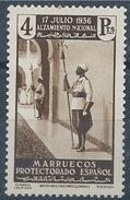 MA169SGDEV-L4184.Maroc.Marocco  .MARRUECOS ESPAÑOL ALZAMIENTO NACIONAL 1937(Ed 183**) Sin Charnela MAGNIFICO - Marruecos Español