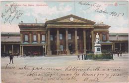 ROYAUME UNI,UNITED KINGDOM,angleterre,england,CARTE ANCIENNE,YORKSHIRE Ouest,HUDDERSFIELD,RAILWAY STATION,1906 - Angleterre
