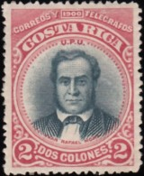 COSTA RICA - Scott #52 Juan Rafael Mora / Mint H Stamp - Costa Rica