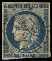 France 1850. ~  YT 4. - 25 C. Cérès (Répub. Franc.) - 1849-1850 Cérès