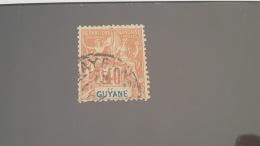 LOT 336397 TIMBRE DE COLONIE GUYANE OBLITERE N°39