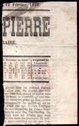 FRANCE - YT N° 7 Sur Fragment De Journal - Journaux