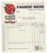 Vp104 Facture 1948 Vetements Marche Roche LYON Pour Chazallet Sainte Foy L' Argentiere Timbre Fiscal - Habits & Linge D'époque