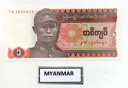 Myanmar (Birmania)  - Banconota Da 1 Kyat -  Nuova -  (FDC2396) - Myanmar