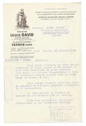 Vp105 Maison Louis DAVID Vernon Eure Beurre 1929 Pour GIRAUD à Chazelles Sur Lyon Loire - Food