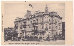 (Bade Wurtemberg) 005, Baden-Baden, Billbardz, Terminus Hotel, Besitzer E Billharz, Dos Non Divisé - Baden-Baden