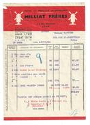 Vp107 Pates Alimentaires MILLIAT1936 Pour Rattier à Sainte Foy L' Argentiere - Alimentaire