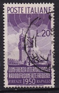1950 MiNr. 796 Radiokonferenz 20 Lire Gestempelt (b160501) - 6. 1946-.. Republic