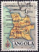 Angola 1955 - Map Of Country ( Mi 395 - YT 384 ) - Angola