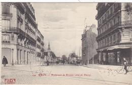 CPA FRANCE DIJON  BOULEVARD DE BROSSES Animée Année 1916 - Dijon