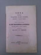 Note Autour D Un Antique Globe Par Dal Cav. P.e. Visconti - Livres Anciens