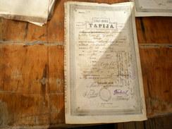 Erazi Mirie Tapija Visoko Bosna I Hercegovina  1889 - Documenti Storici