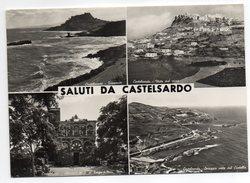 Italie--CASTELSARDO--1962--Saluti Da Castelsardo--Multivues  Cpsm 15 X 10 N° 43 éd Cuesa Francesca-timbre+cachet - Andere Steden