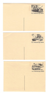 UX61 62 63  6c Tourism Year Of Americas 1972 Tagged Postal Cards Mint Unused