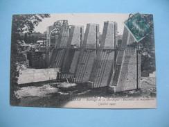 CPA -  Tullière Barrage De La Dordogne - Ensemble De Maçonnerie (Juillet 1907)  Voyagé - France