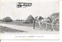 De Vliegmachine Van Gaudart In Volle Vlucht. - Cartes Postales