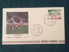 Busta Ufficiale Calcio Italia Campionato 1991-92 Torino-Juventus 5-4-1992 - Fútbol