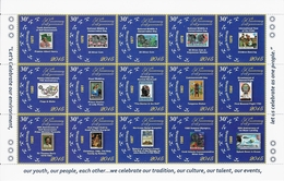 Cook 2015, 50th Of Postal History, Stamp On Stamp, Christmas, Halley Comet, Coins, Baloon, Skydiving, Space, Diana, Rota