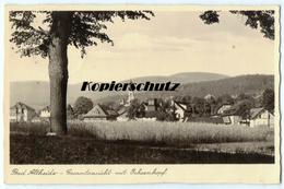 Bad Altheide Gesamtansicht Vom Ochsenkopf, Alte Foto Ak Ansichtskarte 1940 - Polen