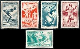 MONACO 1948 - Yv. 319 320 321 322 323 Neufs   à 13% !  Cote= 7,90 EUR - JO De Londres (5 Val.) ..Réf.MON20278 - Nuovi