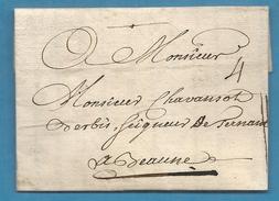 Lettre De LYON (Lyonnais) Pour BEAUNE (Bourgogne) -1744 - 1801-1848: Voorlopers XIX