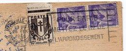 1946--Affranchissement Paire Iris 1f20 (651) +chaines Brisées 10c (670) Sur Cp MARSEILLE -Pont Transbordeur - 1921-1960: Modern Period