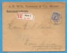 Suède - Lettre De Malmoe Pour Hannoversch Münden (Allemagne) - 1912 - Suède