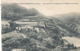 48 // SAINT JULIEN D ARPAON   Une Partie Du Village Et Le Chateau En Ruines - France