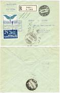 85) SVIZZERA LETTERA RACCOMANDATA VIA AEREA GENEVE - MILANO 3.10.1925 - Altri Documenti