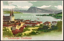 CH - Luzern LU - Litho - Werbung/Reklame Hencken & Roth's Lenzburger Confituren (Lenzburg AG) - AG Argovie
