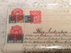 Straits Settlements Revenue Stamps On PENANG 1918 Mortgage Document 2500 $ (Singapore Fiscal Timbres Fiscaux Malaysia - Singapore (...-1959)