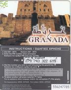 GREECE - Granada, Amimex Prepaid Card 5 Euro, CN : 9 Digits, Used - Landscapes
