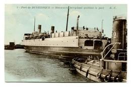 C27  DUNKERQUE  MANOEUVRE FERRY BOAT QUITTANT LA PORT - Dunkerque