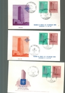 Luxembourg 3 F D C  NATO 1966 Differentes Enveloppes - FDC