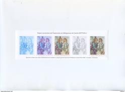 Etapes Successives De L'impression En Héliogravure De Sandro Botticelli - Vénus Et Les Graces - Documents De La Poste