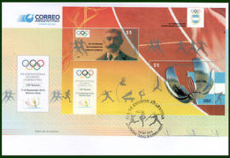 OLYMPIC/ARGENTINA-2013-FDC-125 TH.INTERNATIONAL OLYMPIC COMMITTEE SESSION-SS- - Non Classés