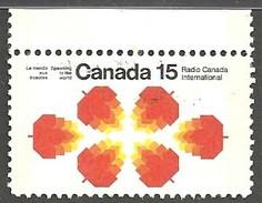 Sc. #541p Radio Canada International (2 Bar Tagging) Used 1971 K394 - 1952-.... Règne D'Elizabeth II